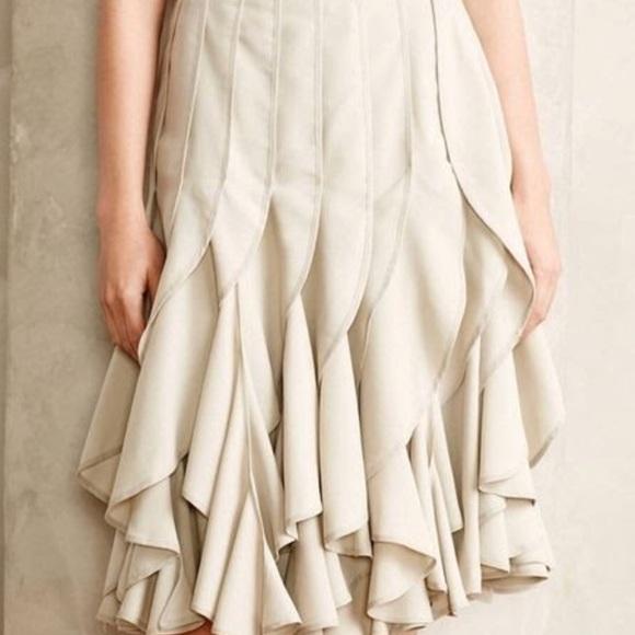 ef41b934a9 Anthropologie Skirts | New Varun Bahl Anthro Icefall Ruffle Skirt ...